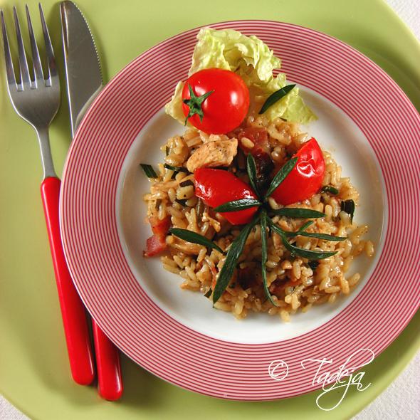 Rižoto s matarom i piletinom