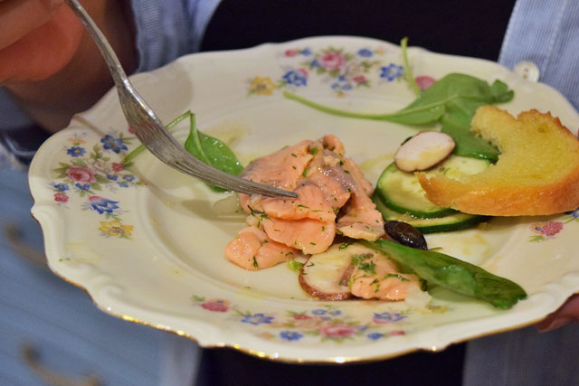 Plavi lonac - carpaccio od lososa