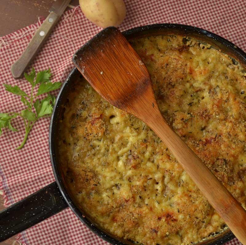 Zapečeni vrganji s krumpirom