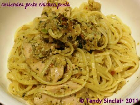 Coriander Pesto Chicken Pasta