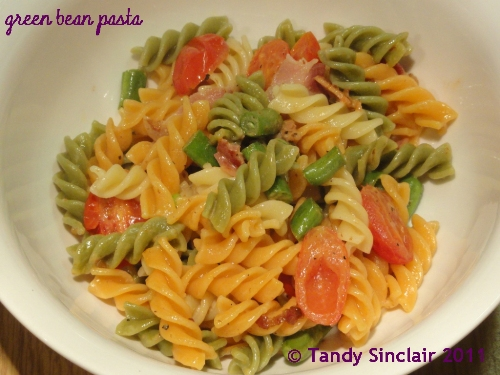Green Bean And Bacon Pasta