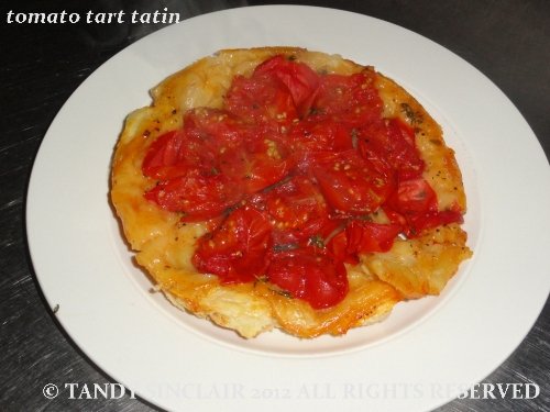 tomato tart tatin Canderel Food Bloggers Event