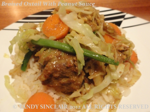Braised Oxtail With Peanut Sauce