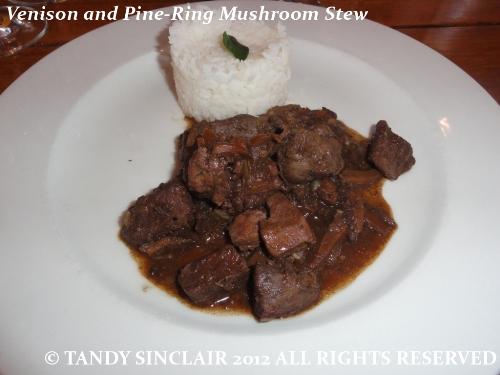 Venison and Pine-Ring Mushroom Stew