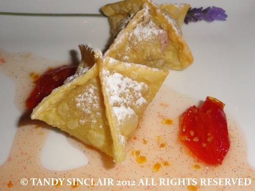 Expressions goats cheese wontons