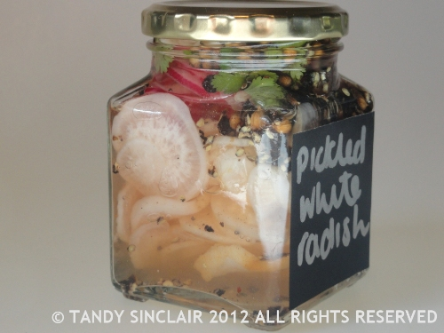 Pickled White Radish October 2012