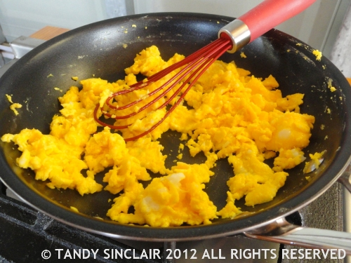 Scrambled Duck Eggs