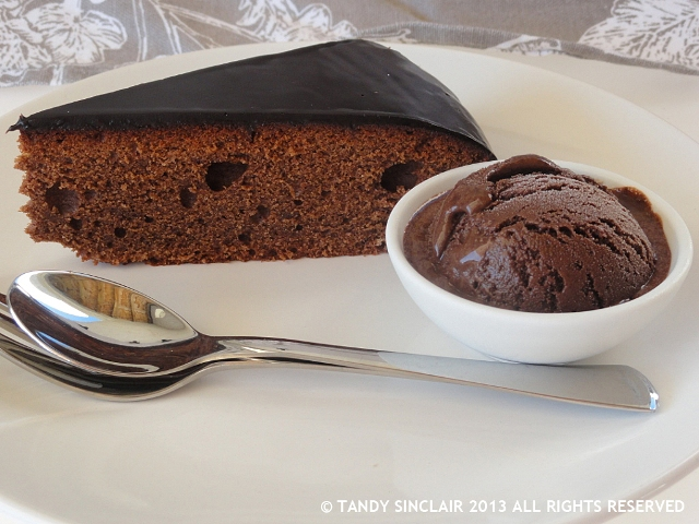 """Sachertorte and Chocolate Sorbet"""