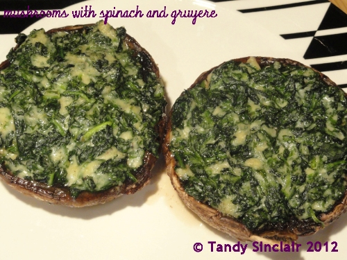 Mushrooms With Spinach And Gruyere