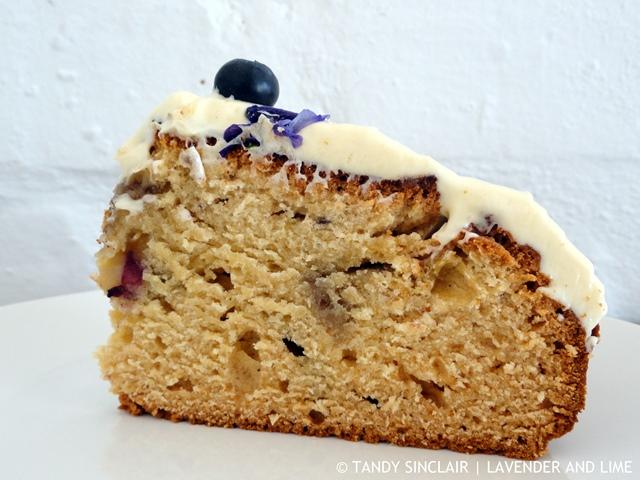 A Slice Of Blueberry Cake