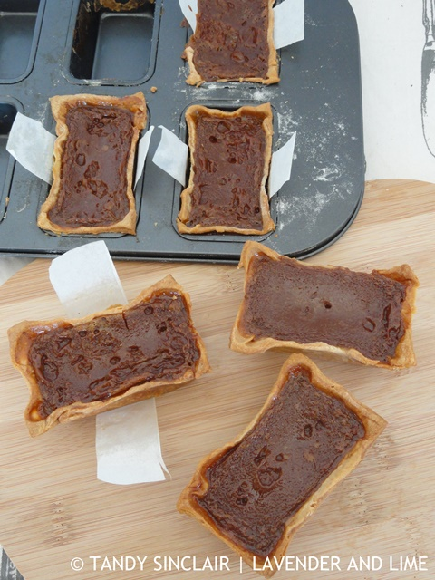 """Use baking paper to make handles to lift your tart out of the tin"""