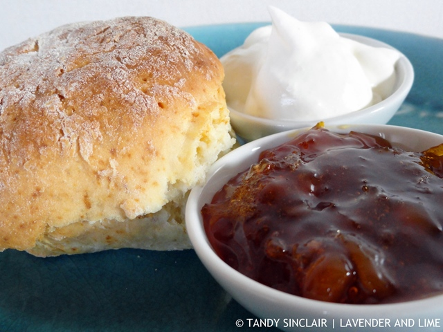 Gingerale Scone With Orange And Ginger Marmalade