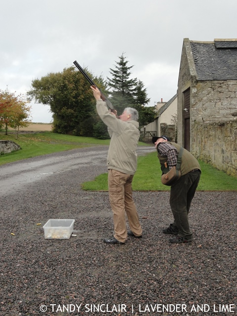 Dave Clay Pigeon Shooting At Glenmorangie House