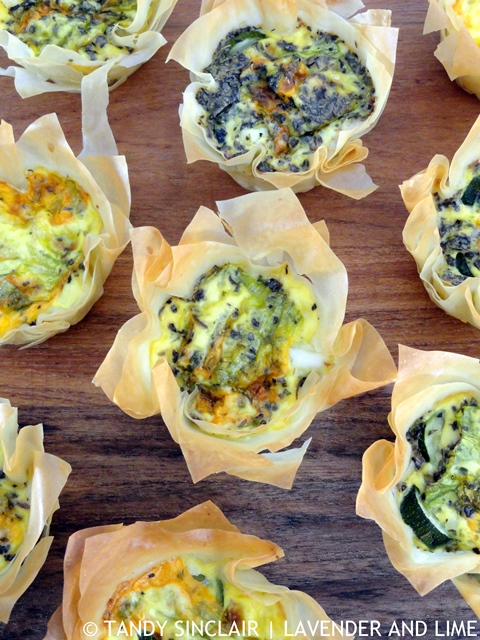 Mini Zucchini Quiches