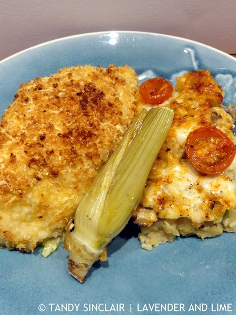 Chicken Kiev With Baked Paella Rice And Poached Fennel