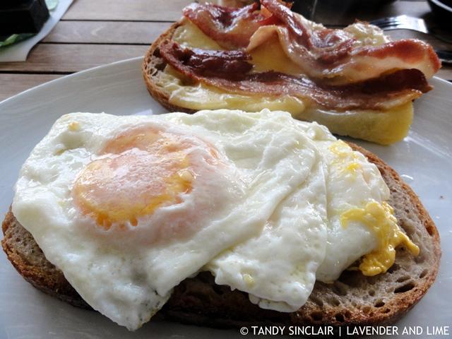 Bacon, Egg And Cheese On Sourdough Bread At Ou Meul