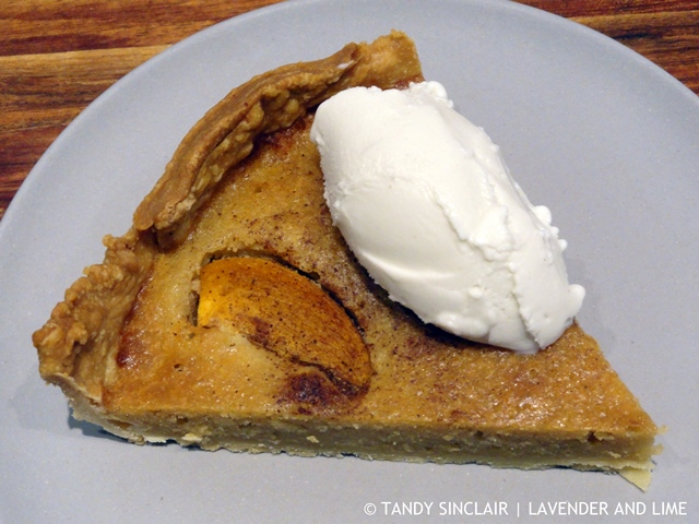 Persimmon Frangipane Tart With Marcel's Apple Crumble Frozen Yoghurt