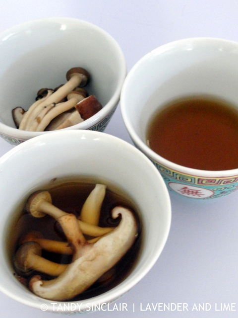 Pickled Mushrooms With Mushroom Consommé