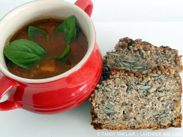 Chunky Italian Soup And Quinoa Bread