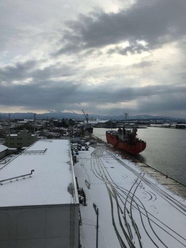 富山港 全景