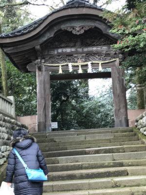 尾山神社 入口階段
