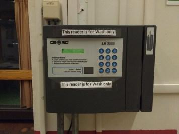 TechCash reader for washers