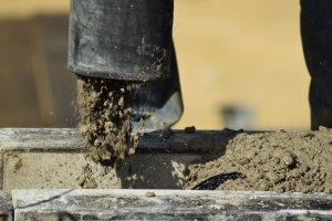 concrete pump, concrete, concrete pour