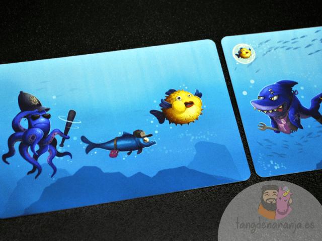 Hungry Shark Juego de mesa infantil tiburones atomo games a salvo
