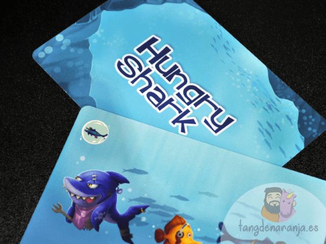 Hungry Shark Juego de mesa infantil tiburones atomo games burbuja