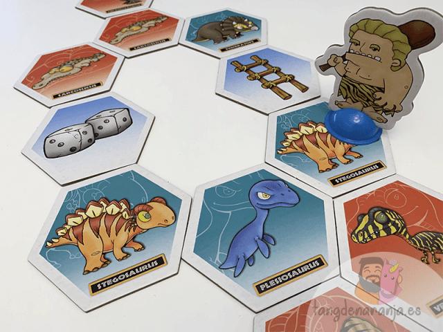 Losetas del juego de mesa Dino Path