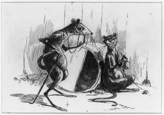 2 mice cartoon