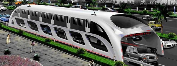 La 3D Express Coach, hybride entre un train et un bus