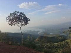 Mt Karongi Looking over Lake Kivu
