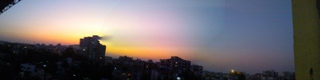 The evening skyline as seen from SunGard Office in Aundh