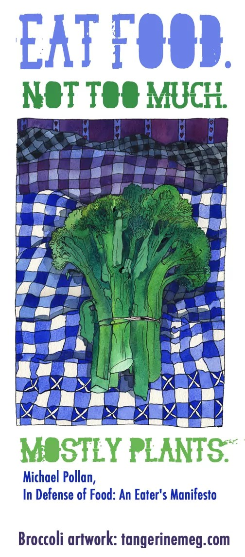 Broccoli and Gingham_Michael Pollan quote