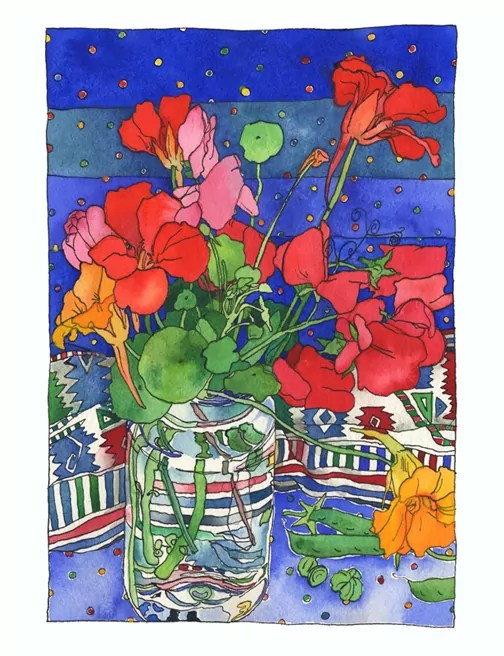 Garden flowers_reds