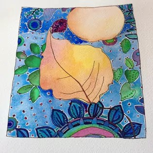 42 of 50_Birthday Bold Art Project_egg-autumnleaf-fabric
