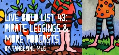 Header image featuring Tangerine Meg lino prints with stripey leggings being worn