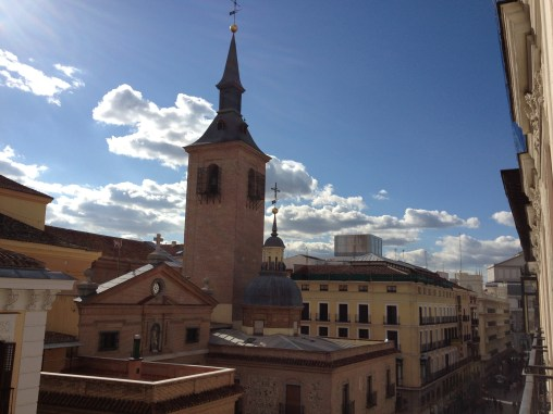 the view from my window in Madrid