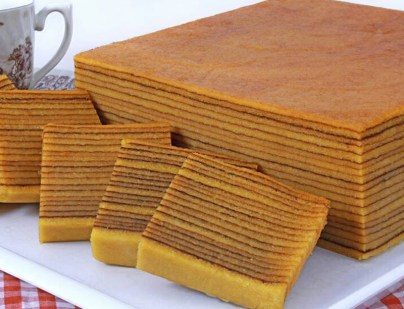 Malaysian Lapis Legit Dessert aka Thousand Layer Cake