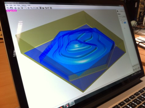 3D modelling the TopoTiles ready for the milling machine