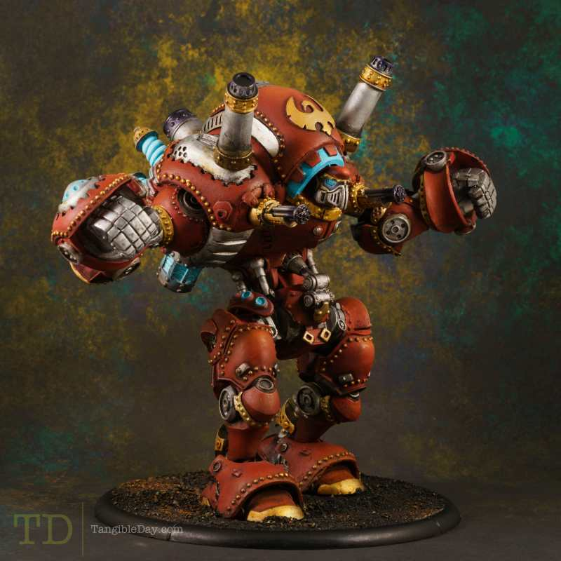 Finished repainted stormwall colossal - how to repaint a used model and miniature - speed painting a used miniature