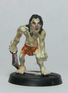 zombie painted messy