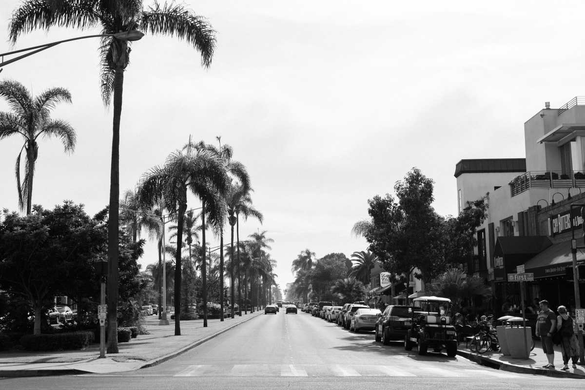 Black and White Photography: The Waterfront in San Diego, California
