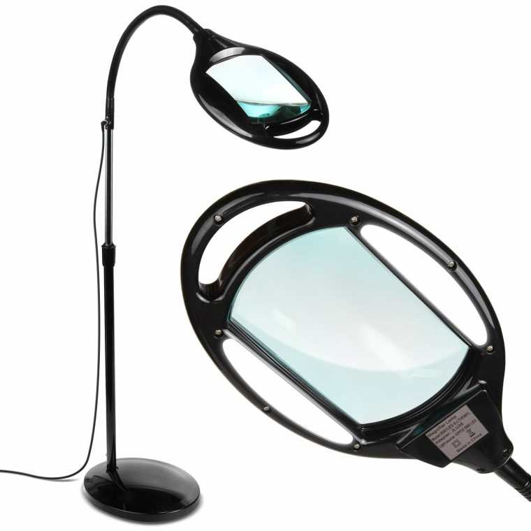 Best magnifying lamps for painting miniatures and models - Brightech LightView Pro LED Magnifying Floor Lamp