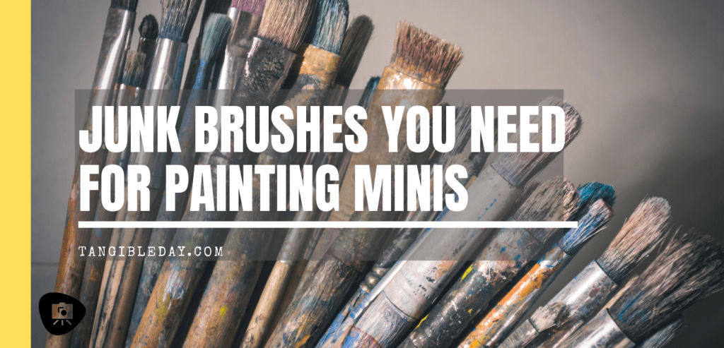 Best cheap brushes for painting miniatures - best synthetic brushes for drybrushing - best brushes for harsh paint techniques