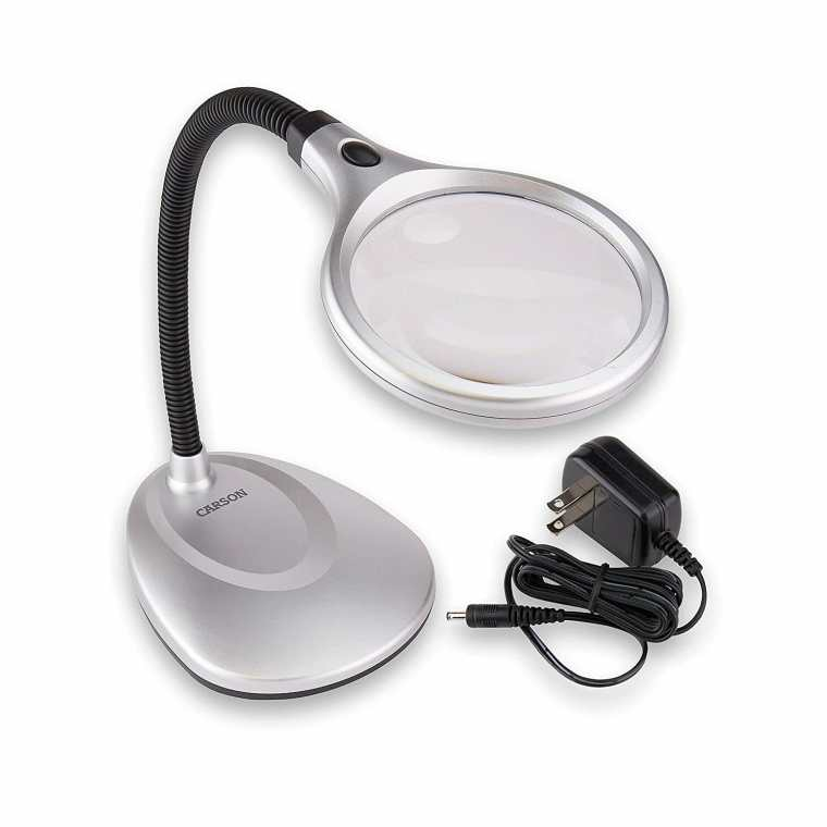 Best magnifying lamps for painting miniatures and models - Carson DeskBrite200 LED Lighted 2x Magnifier and Desk Lamp for Hobbyists best magnifying lights for miniatures and models - best magnifying glass for modeling.