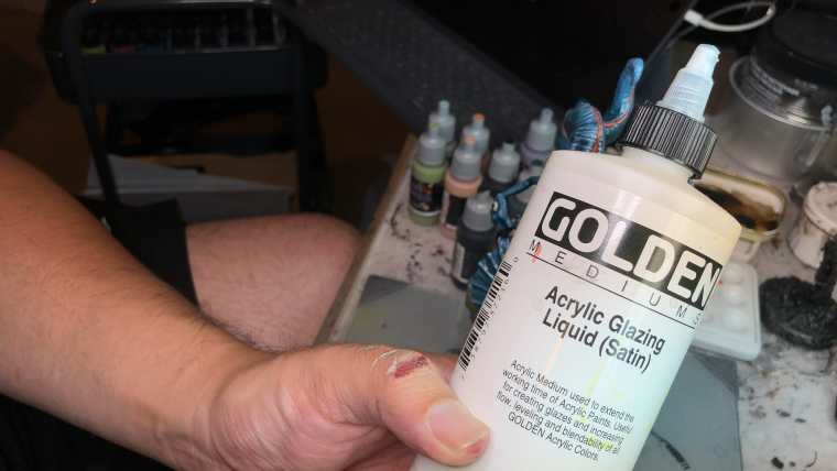 How to Paint Board Game Miniatures: Cthulhu Wars  - When I make my own glazes I use Golden Acrylic Glazing liquid (sometimes).