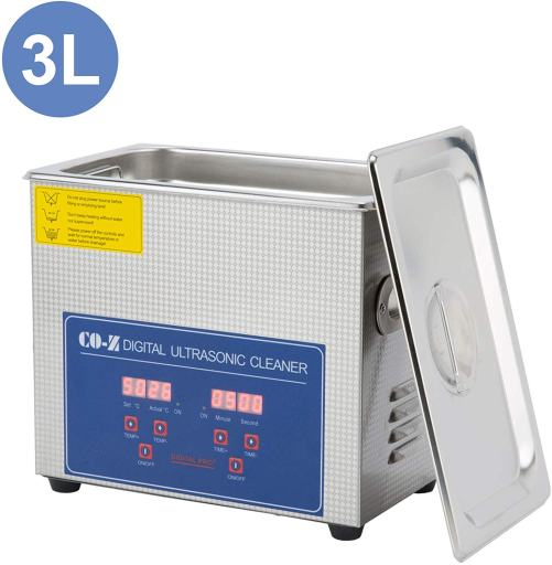 7 Great Ultrasonic Cleaners for Airbrushes and Miniatures - Best ultrasonic cleaner for airbrushes and miniatures - ultrasonic cleaners for cleaning miniatures and models - CO-Z 3L Professional Ultrasonic Cleaner