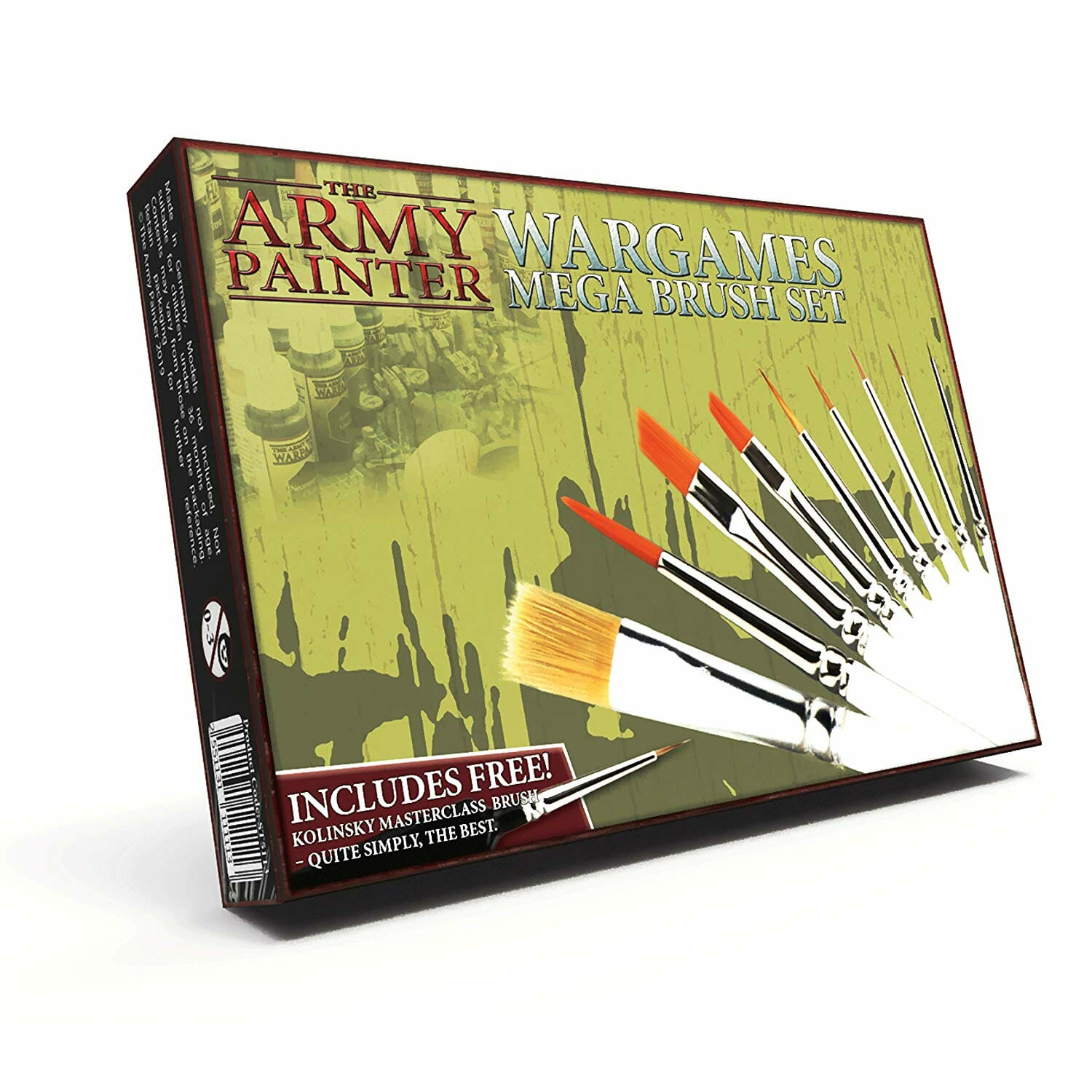 Modellers Set of 6 Extra Fine Detail Paint Brushes for Miniatures War Gaming